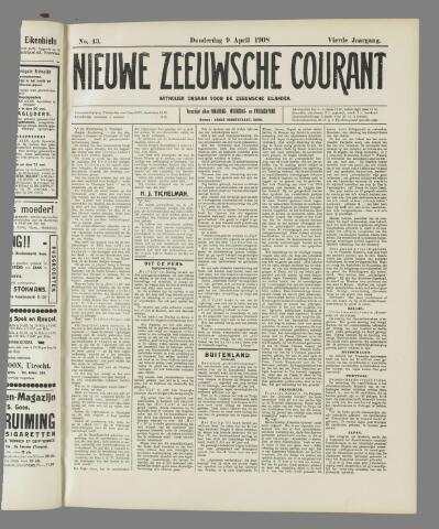 Nieuwe Zeeuwsche Courant 1908-04-09