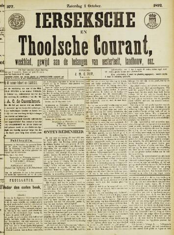 Ierseksche en Thoolsche Courant 1892-10-01