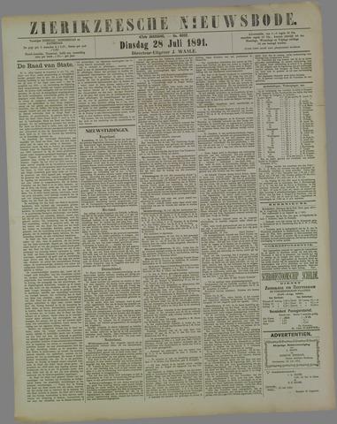 Zierikzeesche Nieuwsbode 1891-07-28