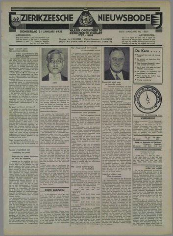 Zierikzeesche Nieuwsbode 1937-01-21