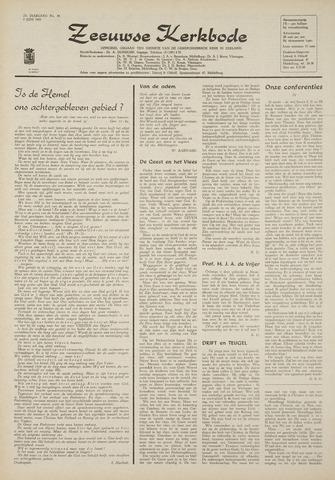 Zeeuwsche kerkbode, weekblad gewijd aan de belangen der gereformeerde kerken/ Zeeuwsch kerkblad 1969-06-05