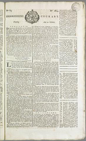 Zierikzeesche Courant 1814-10-21