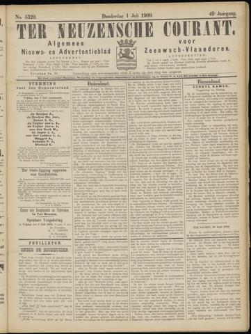 Ter Neuzensche Courant. Algemeen Nieuws- en Advertentieblad voor Zeeuwsch-Vlaanderen / Neuzensche Courant ... (idem) / (Algemeen) nieuws en advertentieblad voor Zeeuwsch-Vlaanderen 1909-07-01