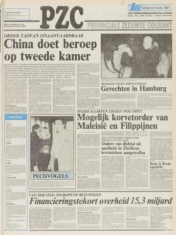 Provinciale Zeeuwse Courant 1981-02-03