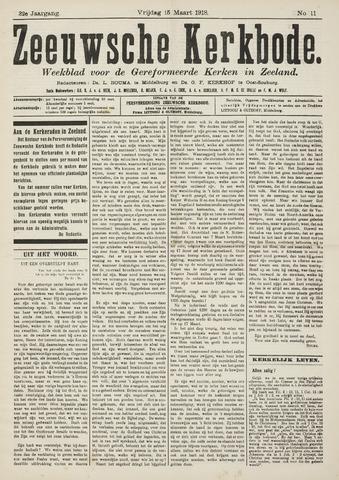 Zeeuwsche kerkbode, weekblad gewijd aan de belangen der gereformeerde kerken/ Zeeuwsch kerkblad 1918-03-15