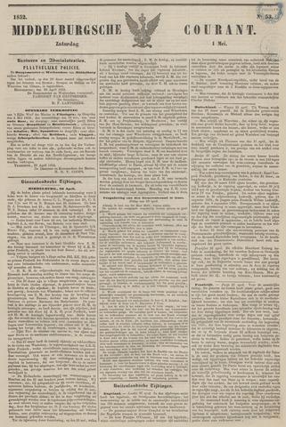 Middelburgsche Courant 1852-05-01