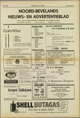 Noord-Bevelands Nieuws- en advertentieblad 1955-05-21