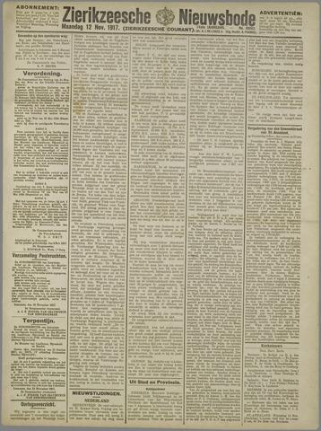 Zierikzeesche Nieuwsbode 1917-11-12