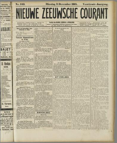 Nieuwe Zeeuwsche Courant 1918-12-03