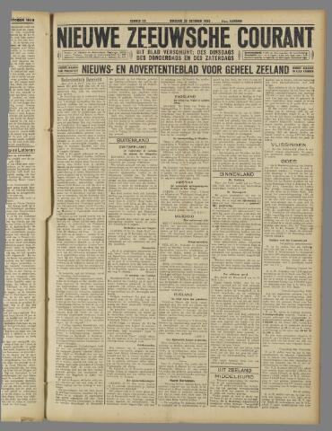 Nieuwe Zeeuwsche Courant 1925-10-20