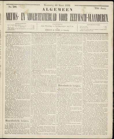 Ter Neuzensche Courant. Algemeen Nieuws- en Advertentieblad voor Zeeuwsch-Vlaanderen / Neuzensche Courant ... (idem) / (Algemeen) nieuws en advertentieblad voor Zeeuwsch-Vlaanderen 1870-03-30