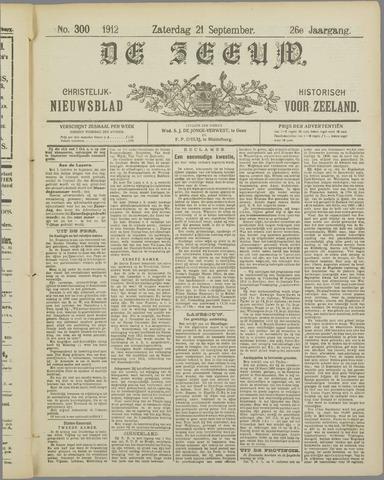De Zeeuw. Christelijk-historisch nieuwsblad voor Zeeland 1912-09-21