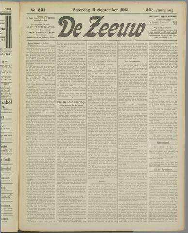 De Zeeuw. Christelijk-historisch nieuwsblad voor Zeeland 1915-09-11