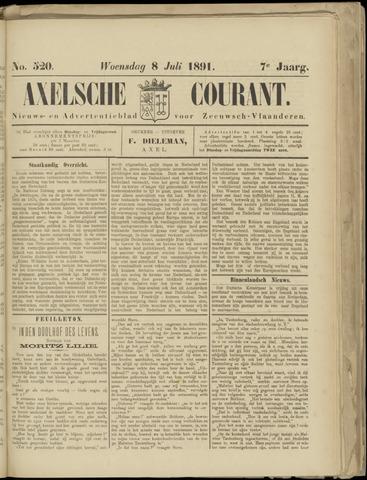 Axelsche Courant 1891-07-08
