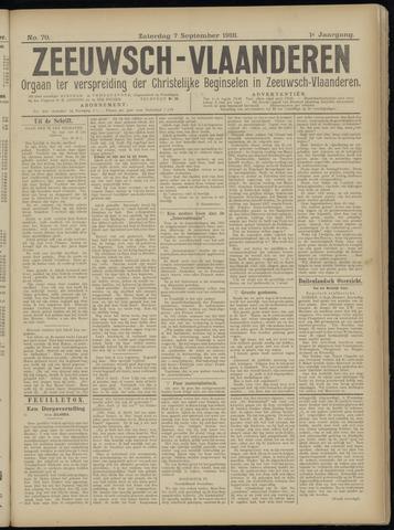 Luctor et Emergo. Antirevolutionair nieuws- en advertentieblad voor Zeeland / Zeeuwsch-Vlaanderen. Orgaan ter verspreiding van de christelijke beginselen in Zeeuwsch-Vlaanderen 1918-09-07