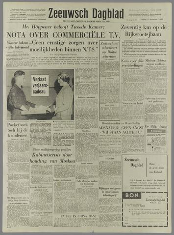Zeeuwsch Dagblad 5 December 1958 Pagina 1 Krantenbank