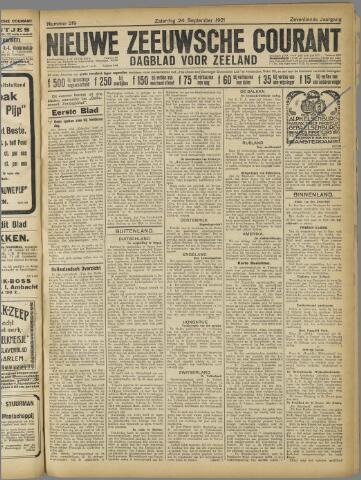 Nieuwe Zeeuwsche Courant 1921-09-24
