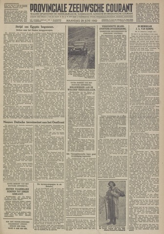 Provinciale Zeeuwse Courant 1942-06-29