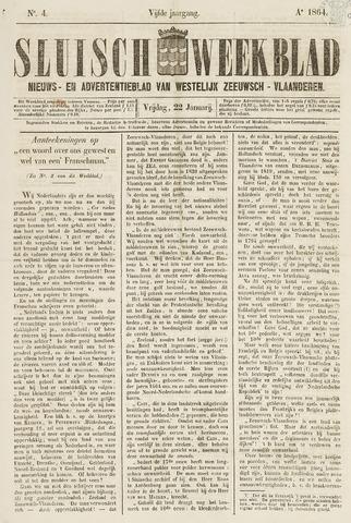 Sluisch Weekblad. Nieuws- en advertentieblad voor Westelijk Zeeuwsch-Vlaanderen 1864-01-22