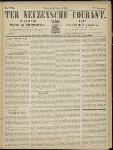 Ter Neuzensche Courant. Algemeen Nieuws- en Advertentieblad voor Zeeuwsch-Vlaanderen / Neuzensche Courant ... (idem) / (Algemeen) nieuws en advertentieblad voor Zeeuwsch-Vlaanderen 1885-03-07