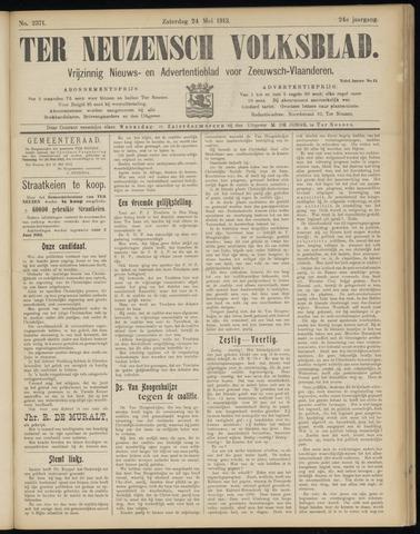 Ter Neuzensch Volksblad. Vrijzinnig nieuws- en advertentieblad voor Zeeuwsch- Vlaanderen / Zeeuwsch Nieuwsblad. Nieuws- en advertentieblad voor Zeeland 1913-05-24