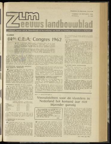Zeeuwsch landbouwblad ... ZLM land- en tuinbouwblad 1962-10-26