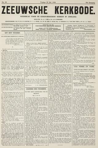 Zeeuwsche kerkbode, weekblad gewijd aan de belangen der gereformeerde kerken/ Zeeuwsch kerkblad 1938-07-29