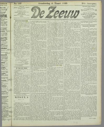 De Zeeuw. Christelijk-historisch nieuwsblad voor Zeeland 1920-03-11