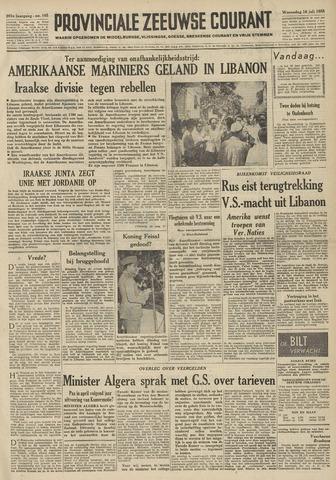 Provinciale Zeeuwse Courant 1958-07-16