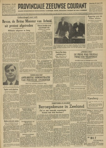 Provinciale Zeeuwse Courant 1951-04-23
