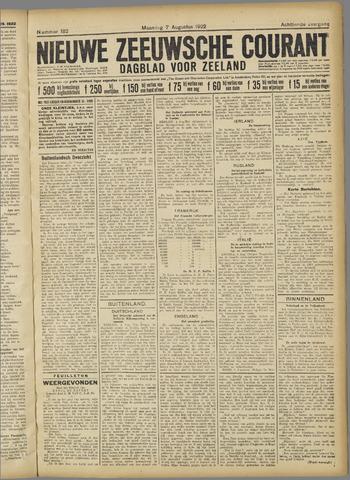 Nieuwe Zeeuwsche Courant 1922-08-07