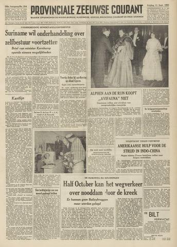 Provinciale Zeeuwse Courant 1953-09-11