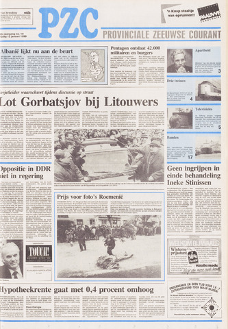 Provinciale Zeeuwse Courant 1990-01-12