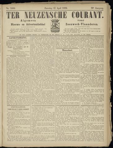Ter Neuzensche Courant. Algemeen Nieuws- en Advertentieblad voor Zeeuwsch-Vlaanderen / Neuzensche Courant ... (idem) / (Algemeen) nieuws en advertentieblad voor Zeeuwsch-Vlaanderen 1889-04-27