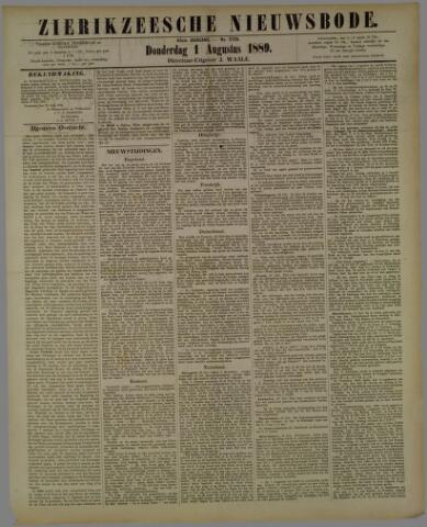 Zierikzeesche Nieuwsbode 1889-08-01