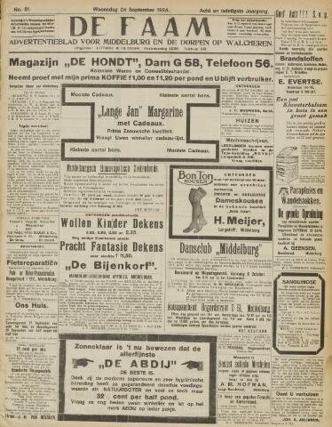 de Faam en de Faam/de Vlissinger 1924-09-24