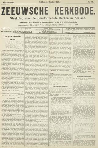 Zeeuwsche kerkbode, weekblad gewijd aan de belangen der gereformeerde kerken/ Zeeuwsch kerkblad 1927-10-28