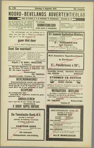 Noord-Bevelands Nieuws- en advertentieblad 1932-08-06