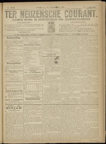 Ter Neuzensche Courant. Algemeen Nieuws- en Advertentieblad voor Zeeuwsch-Vlaanderen / Neuzensche Courant ... (idem) / (Algemeen) nieuws en advertentieblad voor Zeeuwsch-Vlaanderen 1917-11-02