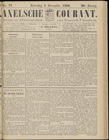 Axelsche Courant 1910-12-03