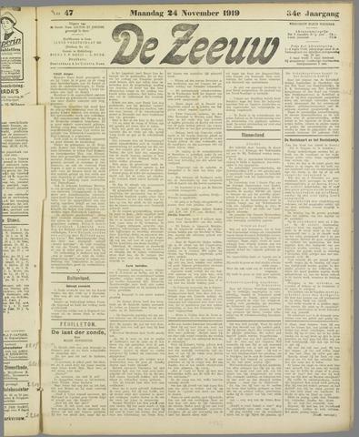De Zeeuw. Christelijk-historisch nieuwsblad voor Zeeland 1919-11-24