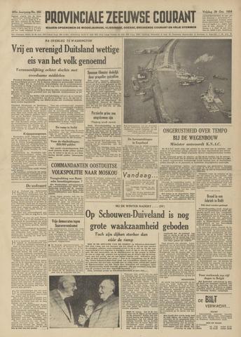 Provinciale Zeeuwse Courant 1954-10-29