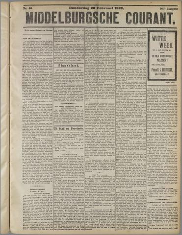 Middelburgsche Courant 1922-02-23