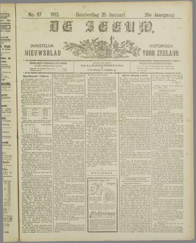 De Zeeuw. Christelijk-historisch nieuwsblad voor Zeeland 1912-01-25