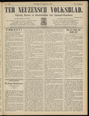 Ter Neuzensch Volksblad. Vrijzinnig nieuws- en advertentieblad voor Zeeuwsch- Vlaanderen / Zeeuwsch Nieuwsblad. Nieuws- en advertentieblad voor Zeeland 1913-09-27
