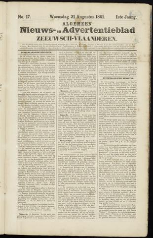 Ter Neuzensche Courant. Algemeen Nieuws- en Advertentieblad voor Zeeuwsch-Vlaanderen / Neuzensche Courant ... (idem) / (Algemeen) nieuws en advertentieblad voor Zeeuwsch-Vlaanderen 1861-08-21