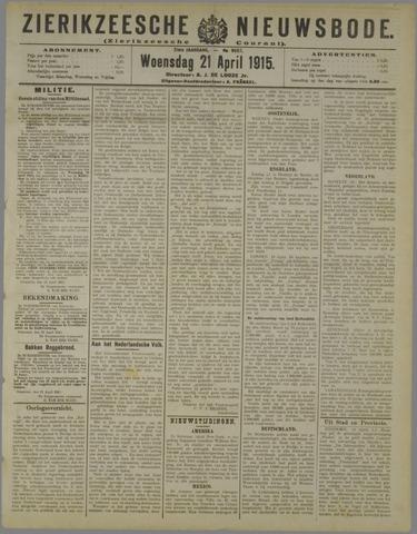 Zierikzeesche Nieuwsbode 1915-04-21