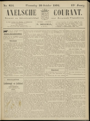 Axelsche Courant 1894-10-10