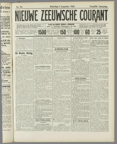 Nieuwe Zeeuwsche Courant 1916-08-05
