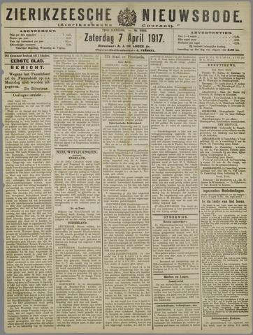 Zierikzeesche Nieuwsbode 1917-04-07